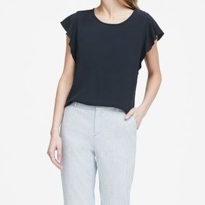 Banana republic flutter sleeve tee shirt